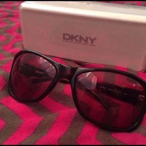 DKNY dark tortoise shell glasses